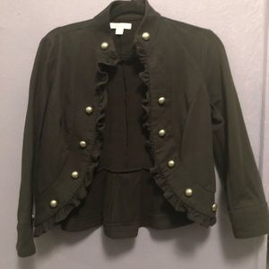 JohnPaulRichard ruffle black jacket
